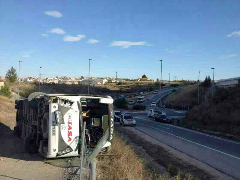Accidente autobús en Cehegín
