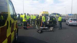 Fotografía: 1-1-2 - Accidente A-30 Murcia.