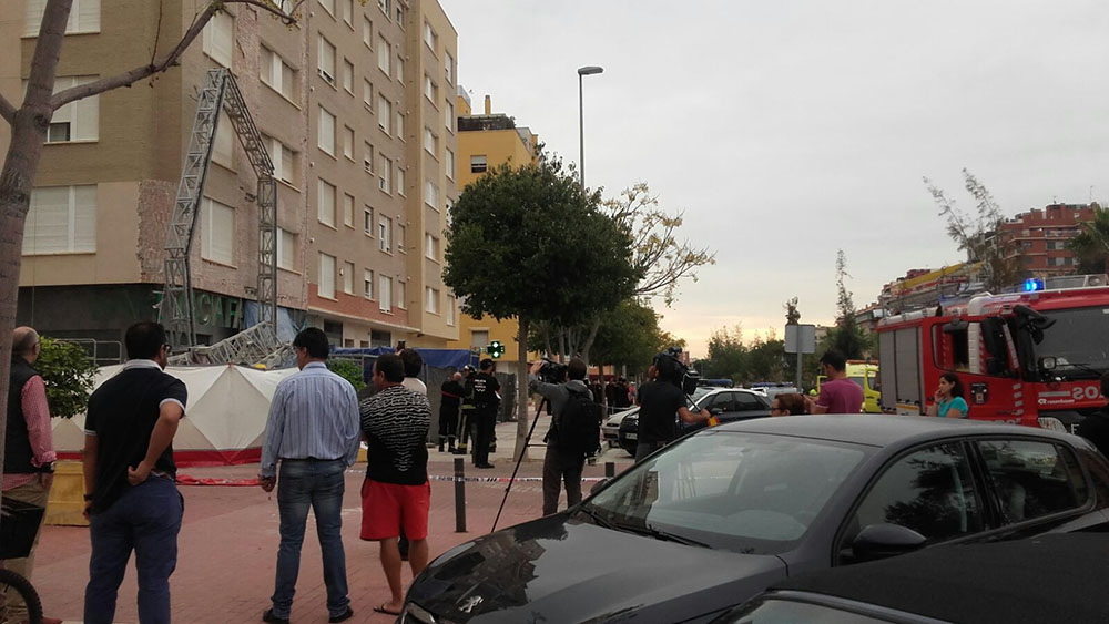 Accidente en calle Florencia Murcia